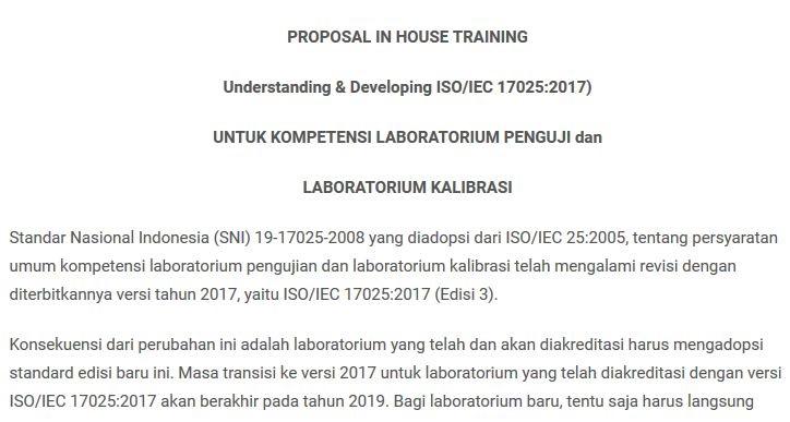 Contoh Proposal Pelatihan Kompetensi Karyawan