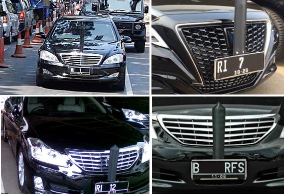 Nomor Polisi Mobil Para Menteri dan Pejabat