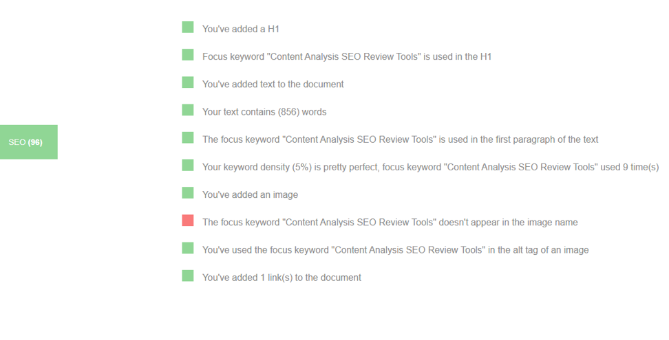 Content Analysis SEO Review Tools