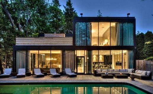 Rumah minimalis aksen kaca