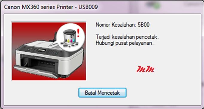 Cara Mengatasi Error 5B00 Printer Canon
