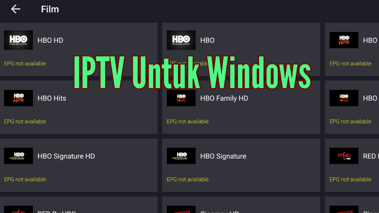 Player IPTV untuk Windows